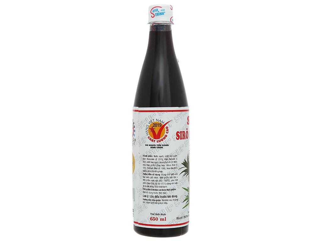 Sirô hương sâm dứa Trinh 650ml 2