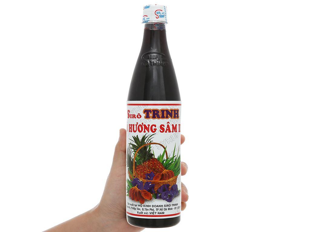 Sirô hương sâm dứa Trinh 650ml 4