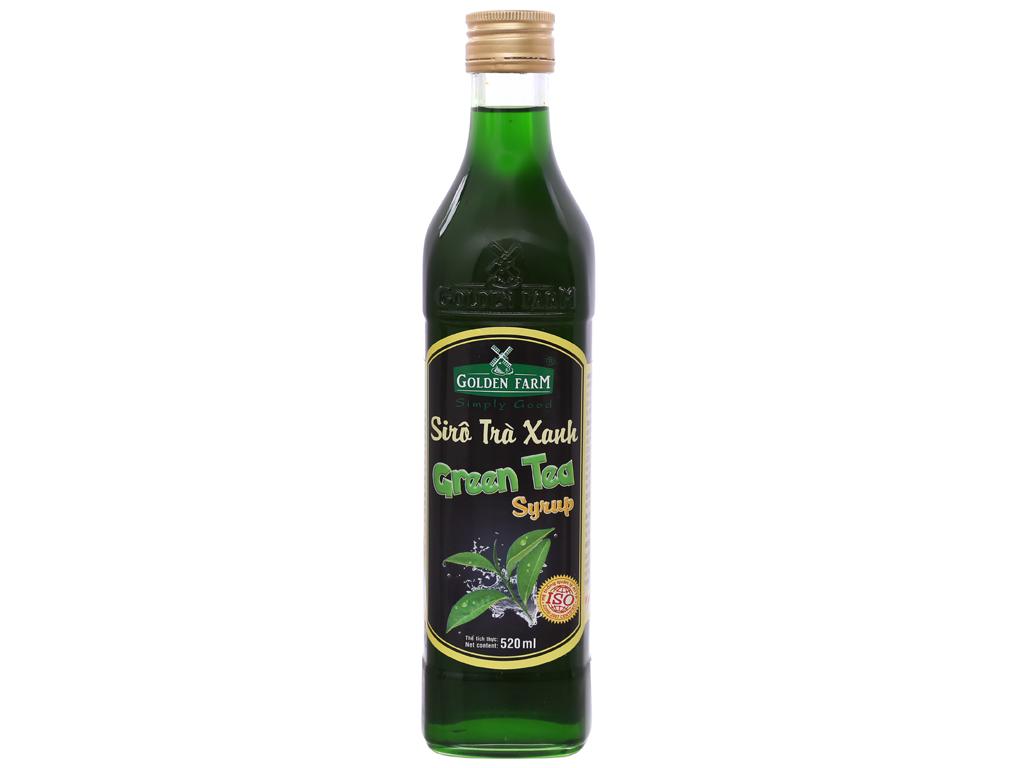 Sirô Golden Farm trà xanh 520ml 1