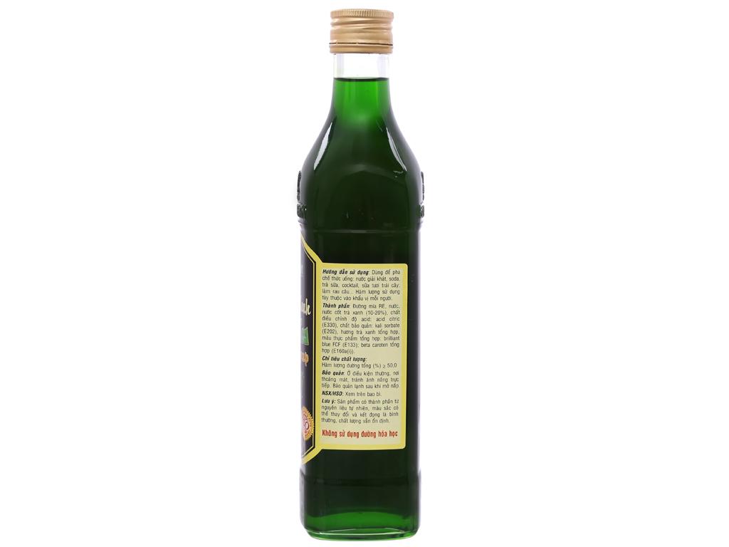 Sirô Golden Farm trà xanh 520ml 2