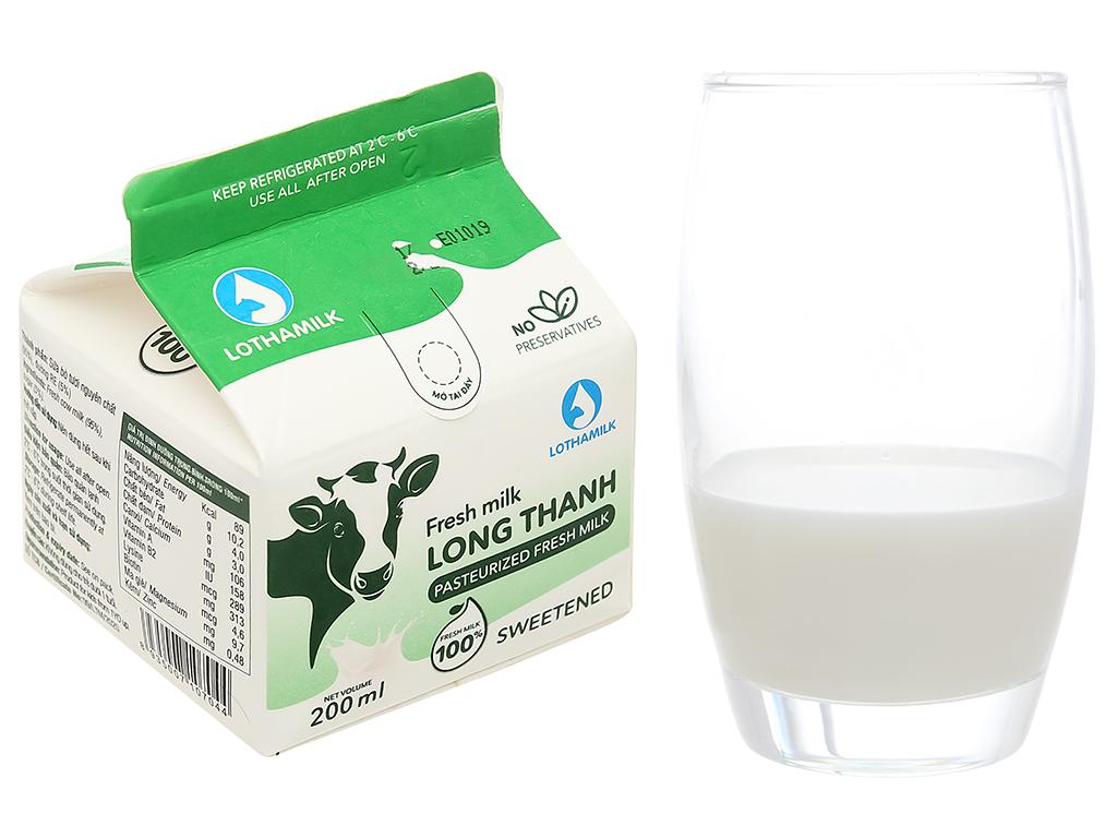 Sữa tươi thanh trùng có đường Lothamilk hộp 200ml 1