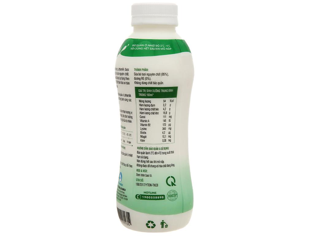 Sữa tươi thanh trùng có đường Lothamilk chai 490ml 3