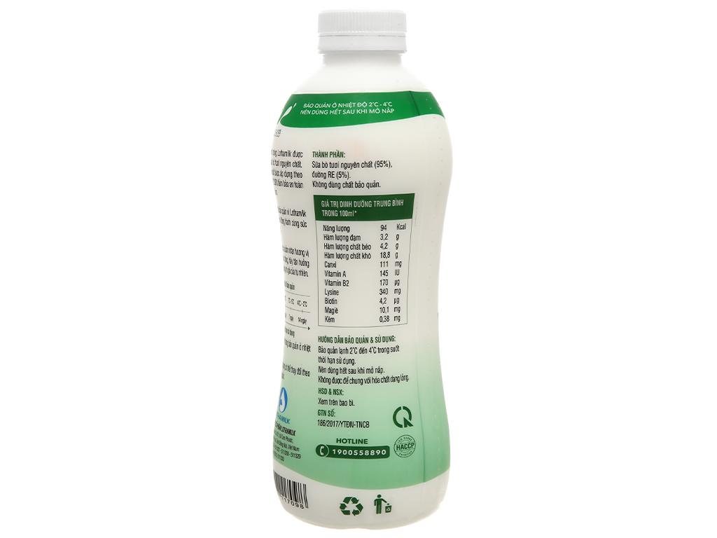 Sữa tươi thanh trùng có đường Lothamilk chai 880ml 3