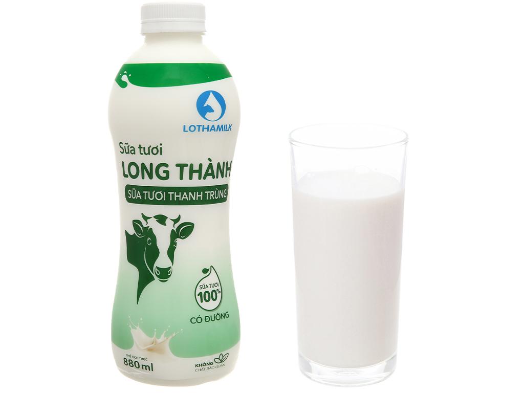 Sữa tươi thanh trùng có đường Lothamilk chai 880ml 6