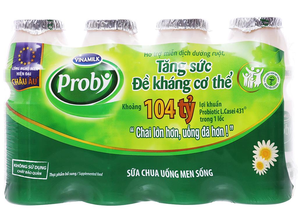 Lốc 4 chai sữa chua uống men sống có đường Vinamilk Probi 130ml 1