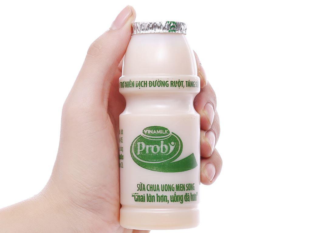 Lốc 4 chai sữa chua uống men sống có đường Vinamilk Probi 130ml 4