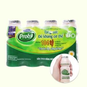 Lốc 4 chai sữa chua uống men sống có đường Vinamilk Probi 130ml