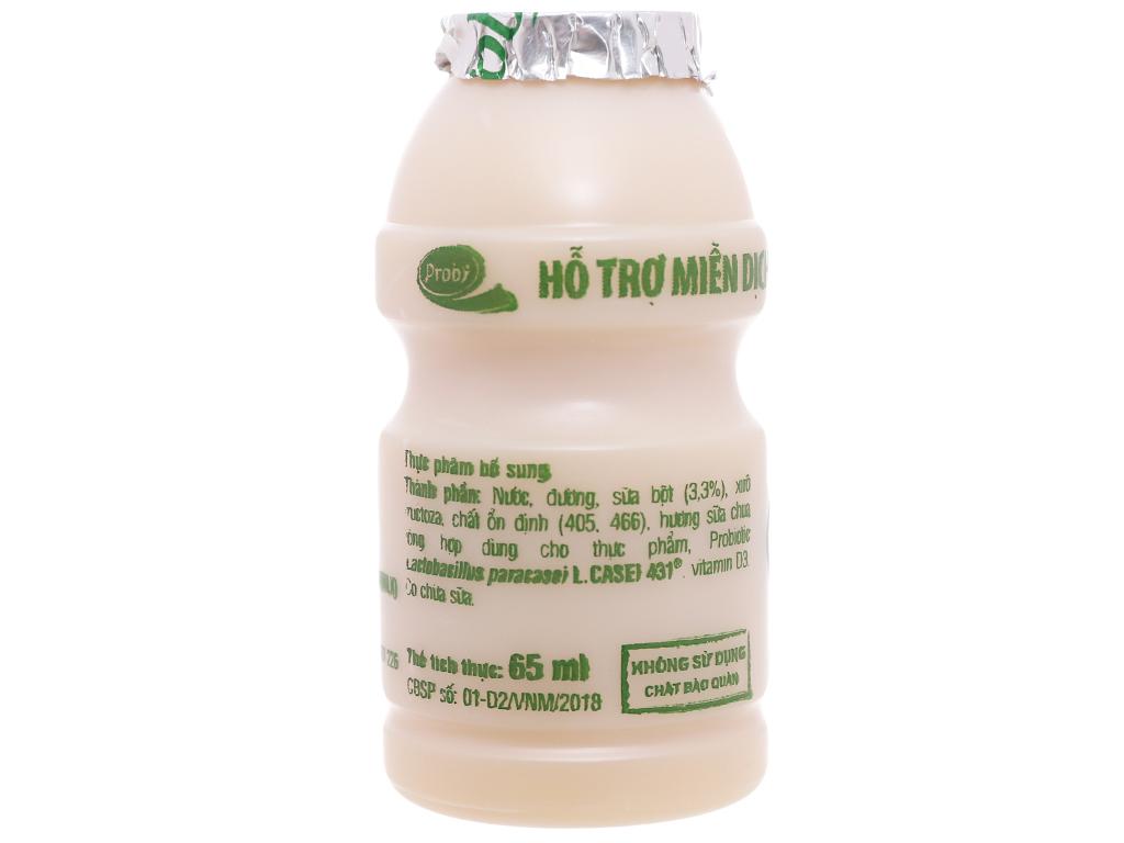 Lốc 5 chai sữa chua uống men sống có đường Vinamilk Probi 65ml 3
