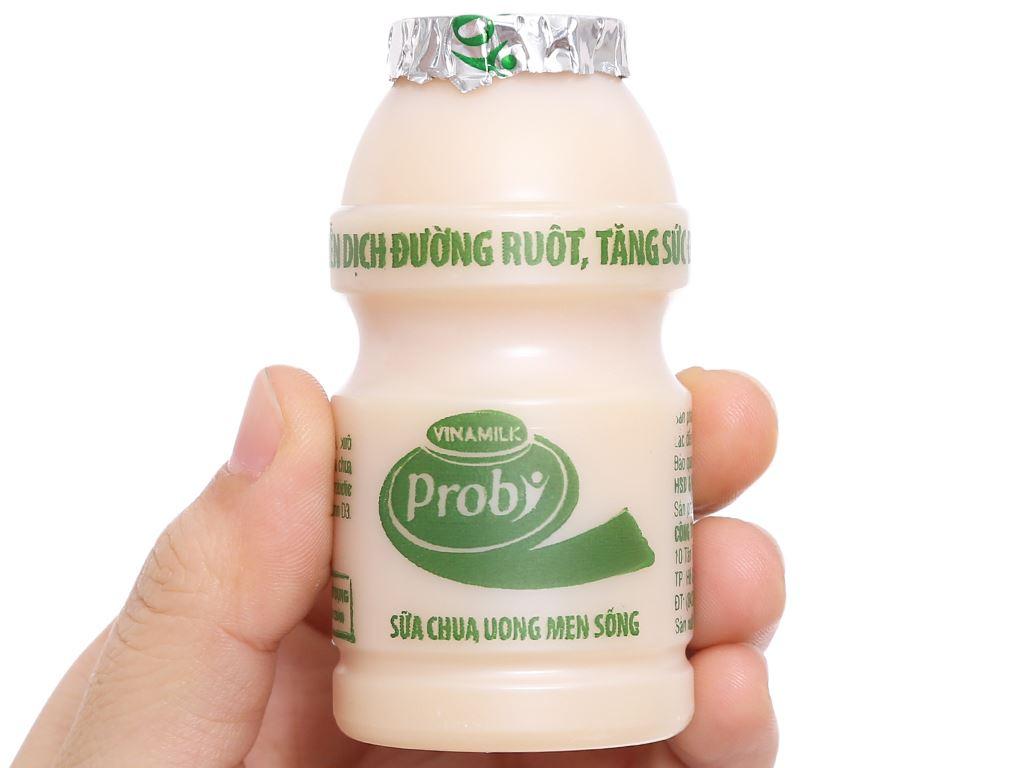 Lốc 5 chai sữa chua uống men sống có đường Vinamilk Probi 65ml 4