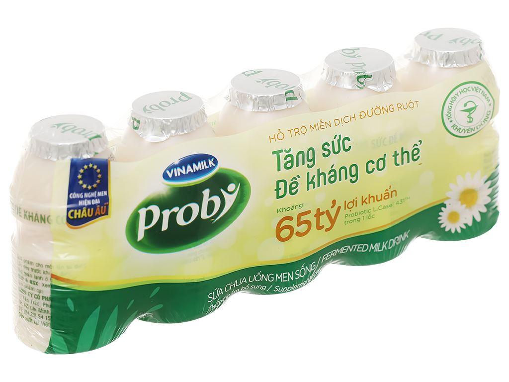 Lốc 5 chai sữa chua uống men sống có đường Vinamilk Probi 65ml 1