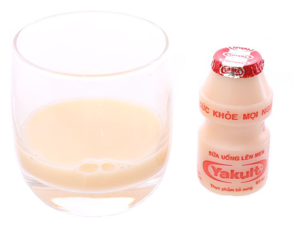 Lốc 5 chai sữa uống lên men Yakult 65ml 4