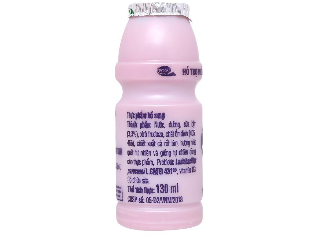Sữa chua uống men sống việt quất Vinamilk Probi chai 130ml 3