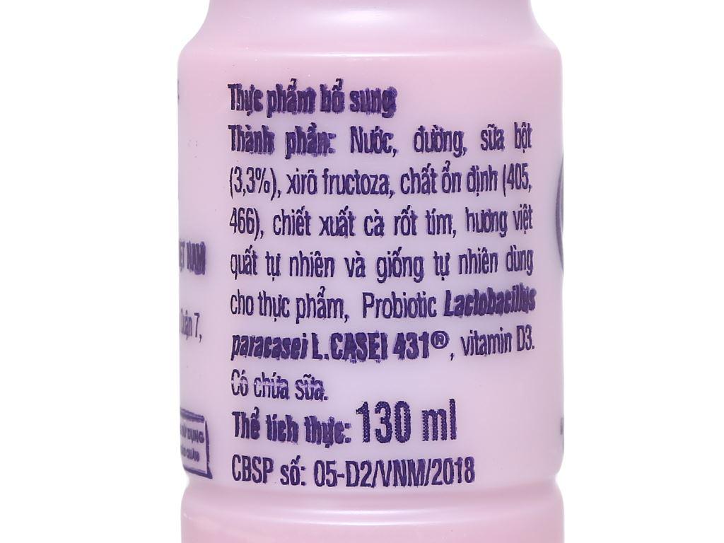 Sữa chua uống men sống việt quất Vinamilk Probi chai 130ml 6
