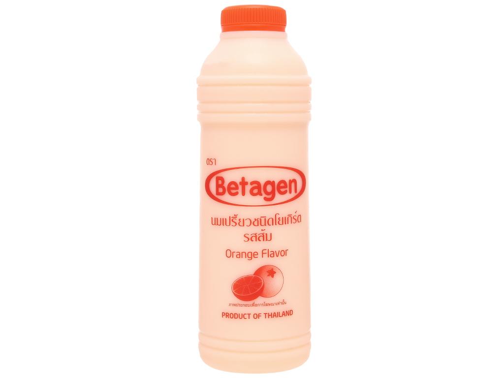 Sữa uống lên men hương cam Betagen chai 700ml 1