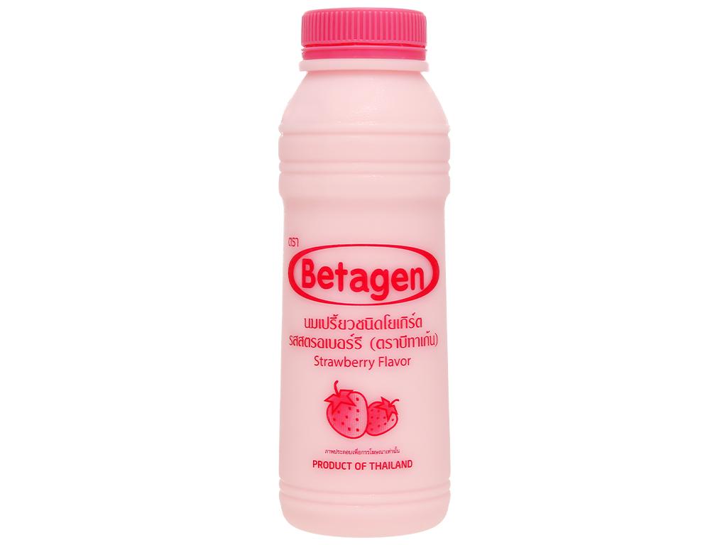 Sữa uống lên men hương dâu Betagen chai 300ml 1