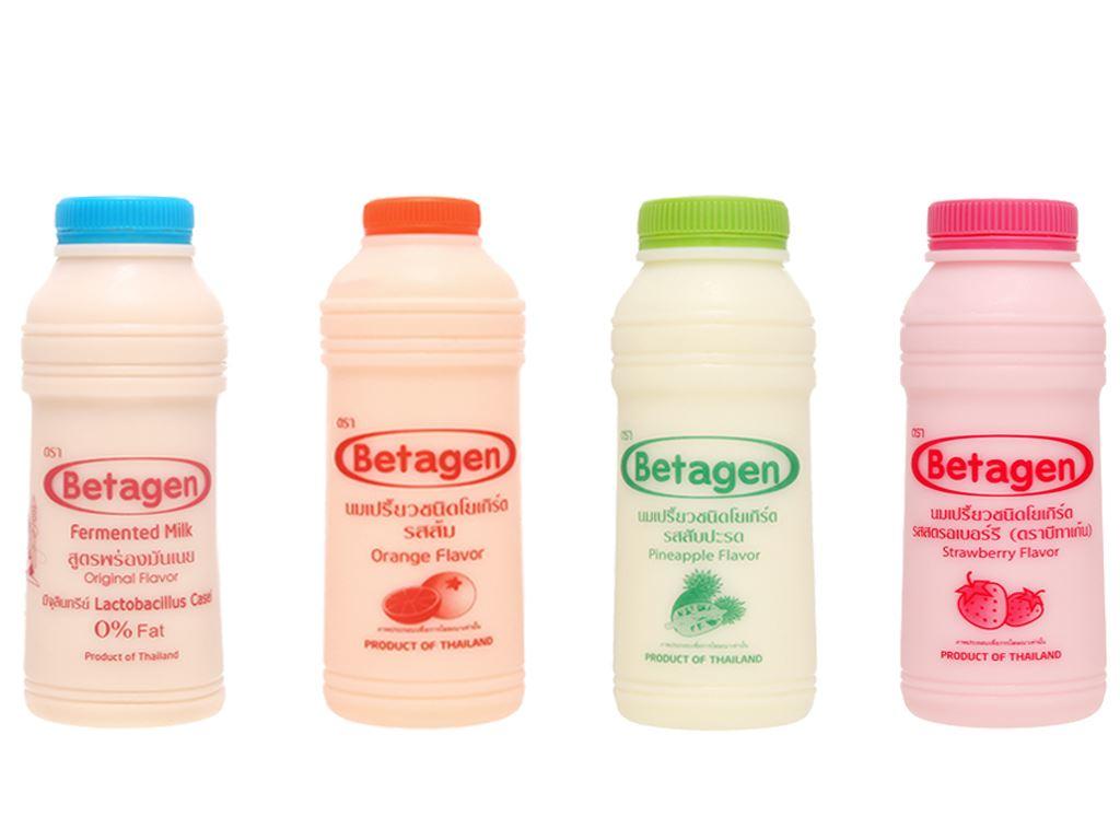 Lốc 6 chai sữa uống lên men hương hỗn hợp Betagen 85ml 5