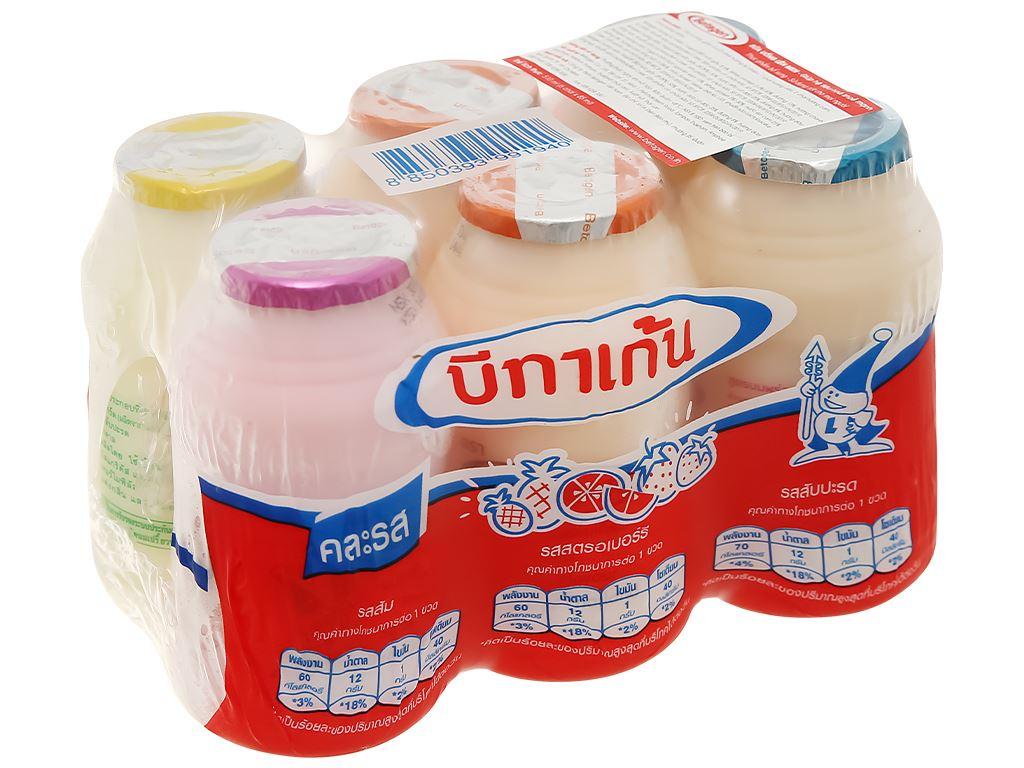 Lốc 6 chai sữa uống lên men hương hỗn hợp Betagen 85ml 1