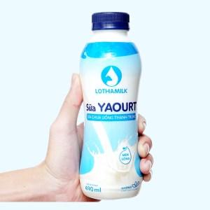 Sữa chua uống thanh trùng có đường Lothamilk chai 490ml