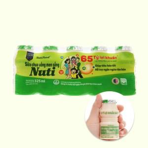 Lốc 5 chai sữa chua uống men sống có đường NutiFood 65ml