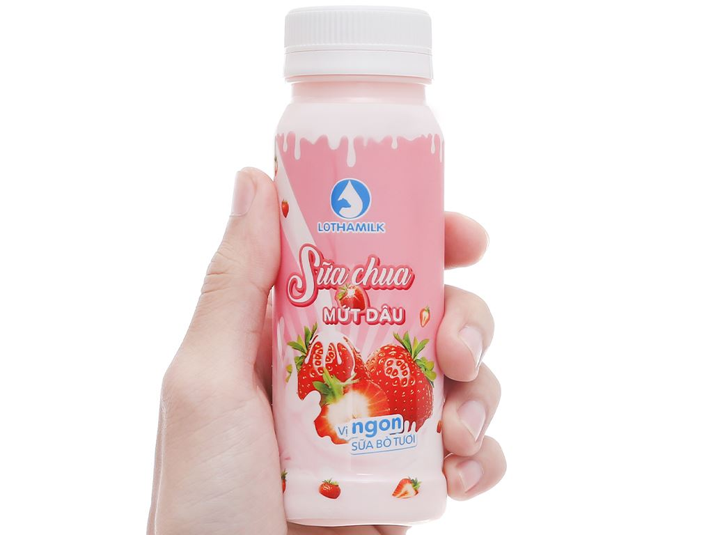 Sữa chua uống mứt dâu Lothamilk chai 180ml 4