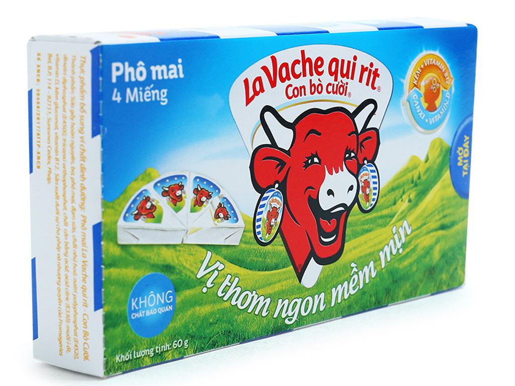 Phô mai Con Bò Cười hộp 60g (4 miếng) 1