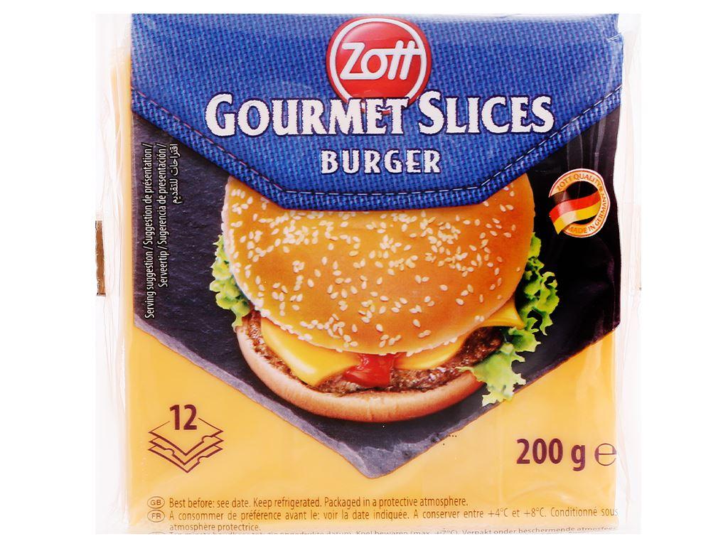Phô mai lát Zott Burger gói 200g (12 lát) 2