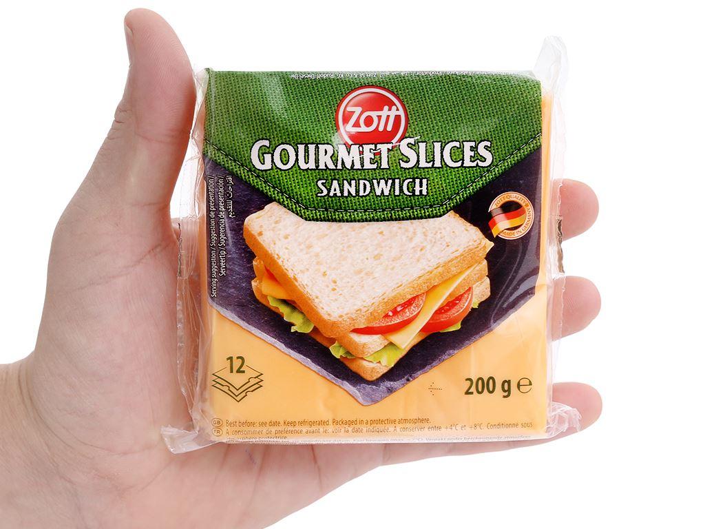 Phô mai lát Zott Sandwich gói 200g (12 lát) 5