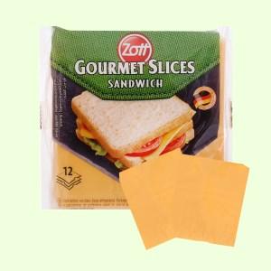 Phô mai lát Zott Sandwich gói 200g (12 lát)