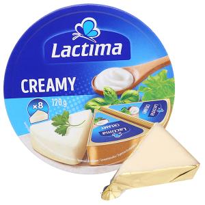 Phô mai kem Lactima Creamy hộp 120g (8 miếng)