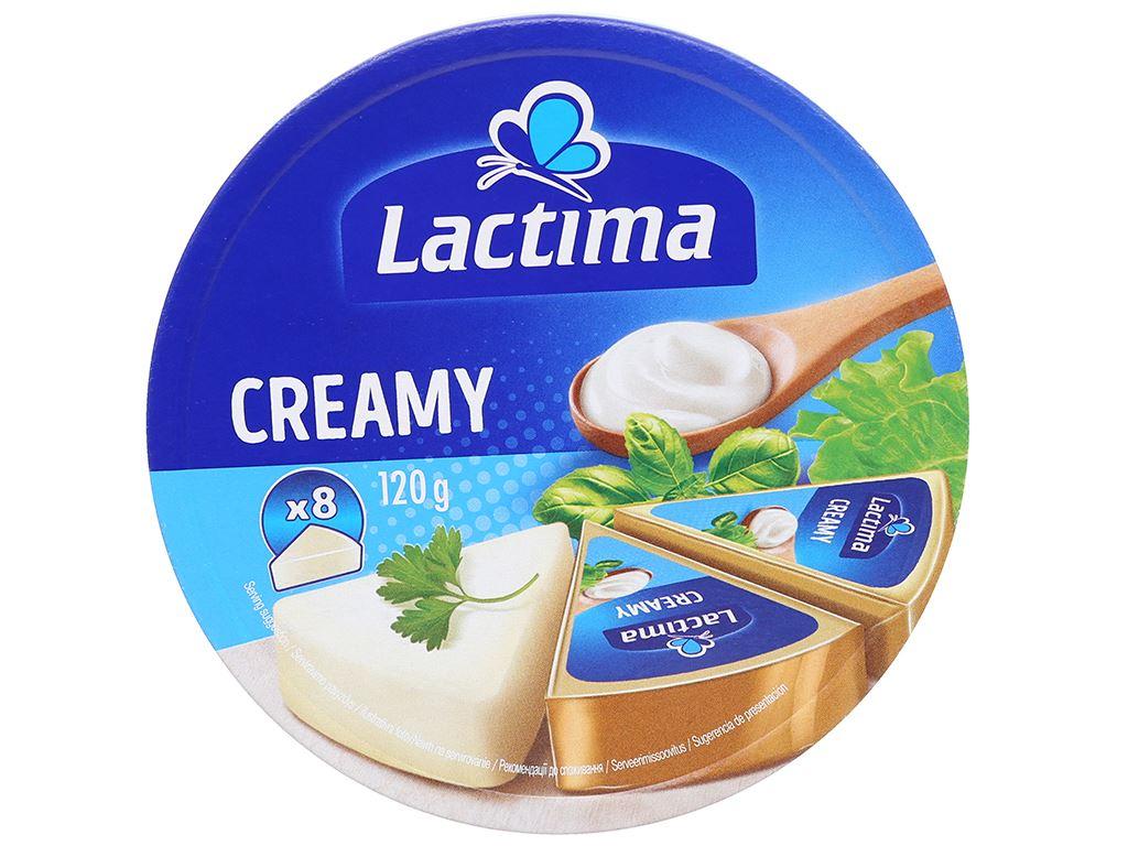 Phô mai kem Lactima Creamy hộp 120g (8 miếng) 3