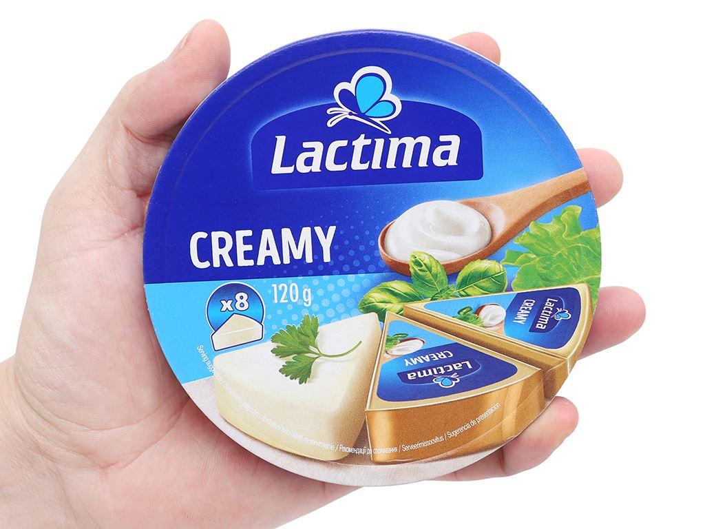Phô mai kem Lactima Creamy hộp 120g (8 miếng) 6