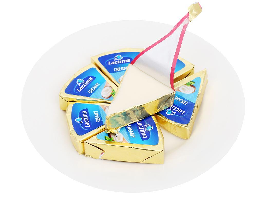 Phô mai kem Lactima Creamy hộp 120g (8 miếng) 7
