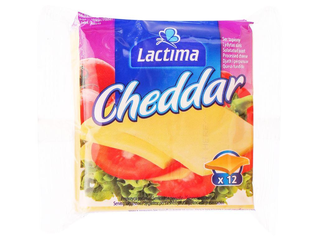 Phô mai lát Lactima Cheddar gói 200g (12 lát) 1