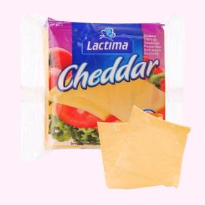 Phô mai lát Lactima Cheddar gói 200g (12 lát)