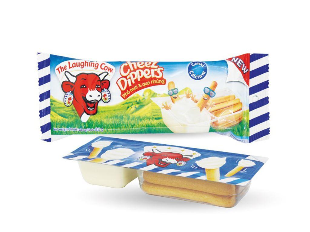 Phô mai chấm bánh Con Bò Cười Cheez Dippers hộp 35g 1