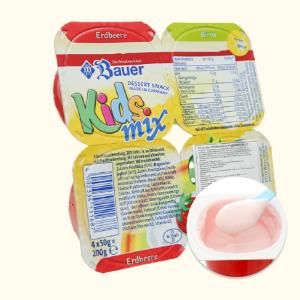 Lốc 4 hộp phô mai hoa quả vị dâu chuối Kids Mix 50g