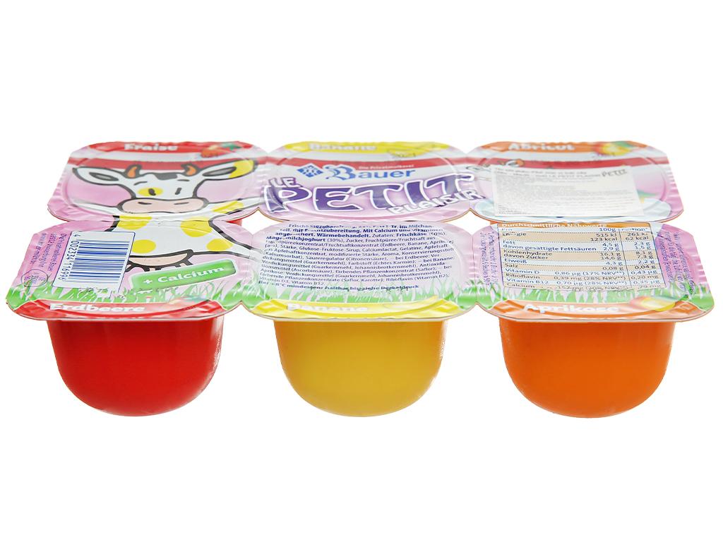 Lốc 6 hộp phô mai vị trái cây (dâu, chuối, mơ) Kids Mix Le Petit Plaisir 50g x 6 hũ 2