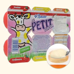 Lốc 6 hộp phô mai vị trái cây (dâu, chuối, mơ) Kids Mix Le Petit Plaisir 50g x 6 hũ
