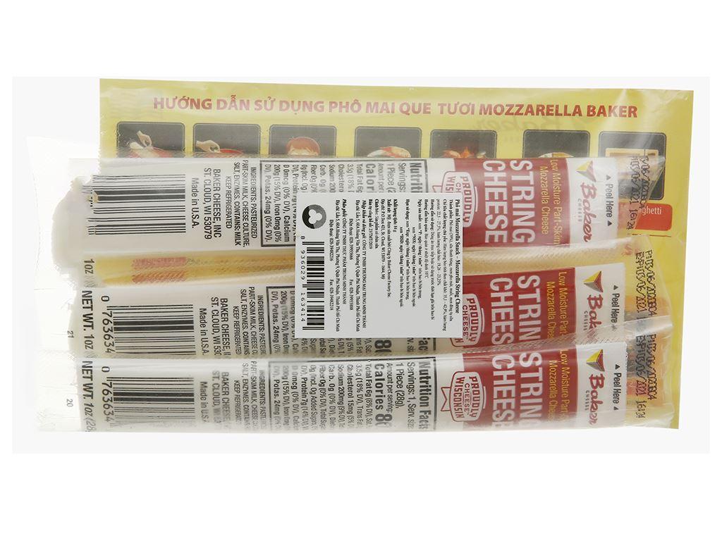 Phô mai Baker Cheese Mozzarella Snack gói 84g 2