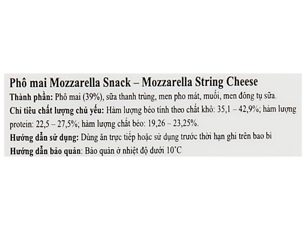 Phô mai Baker Cheese Mozzarella Snack gói 84g 5