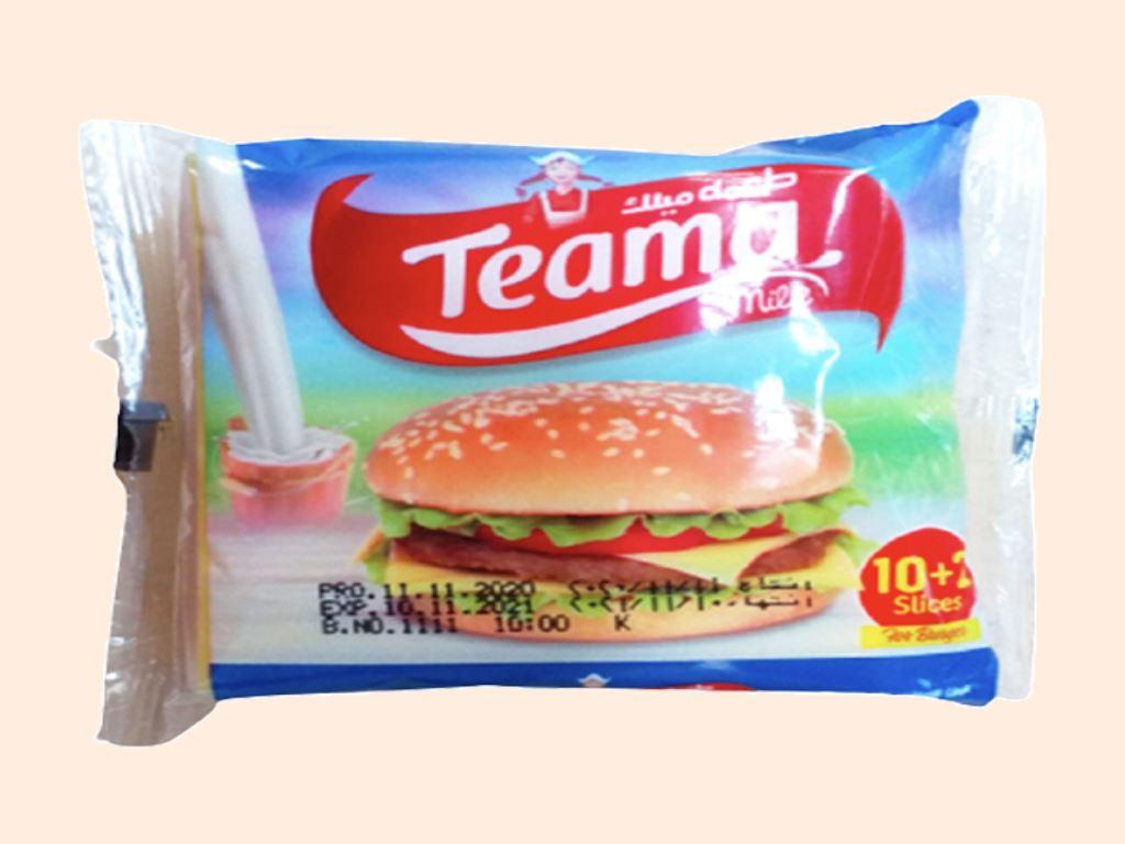 Phô mai lát Teama Burger gói 200g (12 lát)