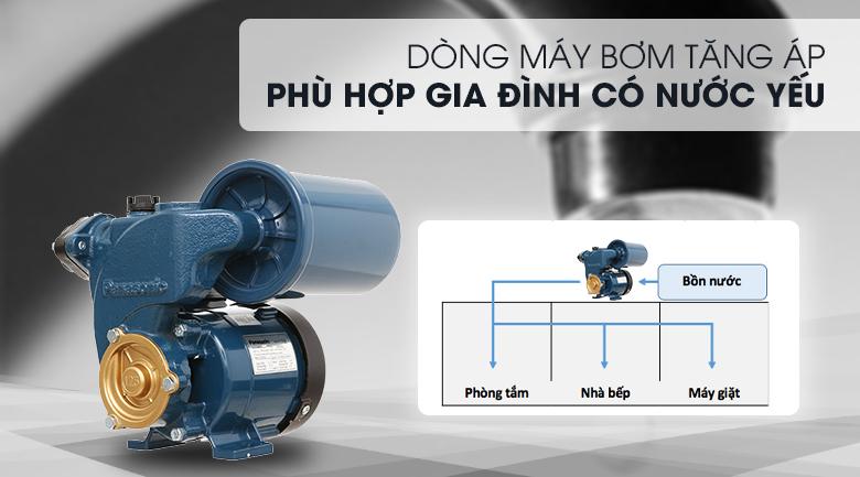 Máy bơm nước tăng áp Panasonic A-130JAK 125W - Dòng máy bơm tăng áp