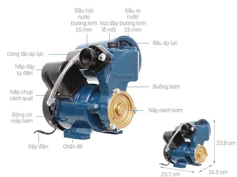 Thông số kỹ thuật Máy bơm nước tăng áp Panasonic A-200JAK 200W