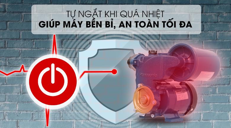 Máy bơm nước tăng áp Panasonic A-200JAK 200W - An toàn tối đa với tính năng tự ngắt khi nhiệt độ bơm quá cao
