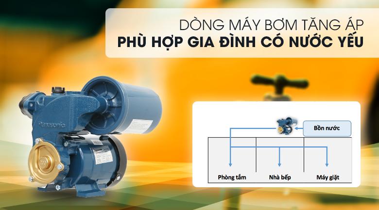 Máy bơm nước tăng áp Panasonic A-200JAK 200W - Thuộc dòng máy bơm tăng áp, phù hợp cho nhà có nước yếu