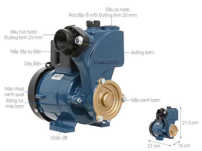 Thông số kỹ thuật Máy bơm nước đẩy cao Panasonic GP-129JXK-SV5 125W