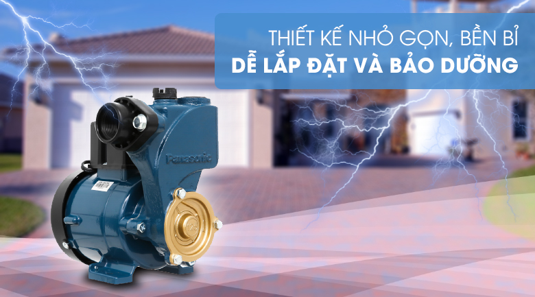 Máy bơm nước đẩy cao Panasonic GP-129JXK-SV5 125W - Thiết kế nhỏ gọn, tiết kiệm năng lượng