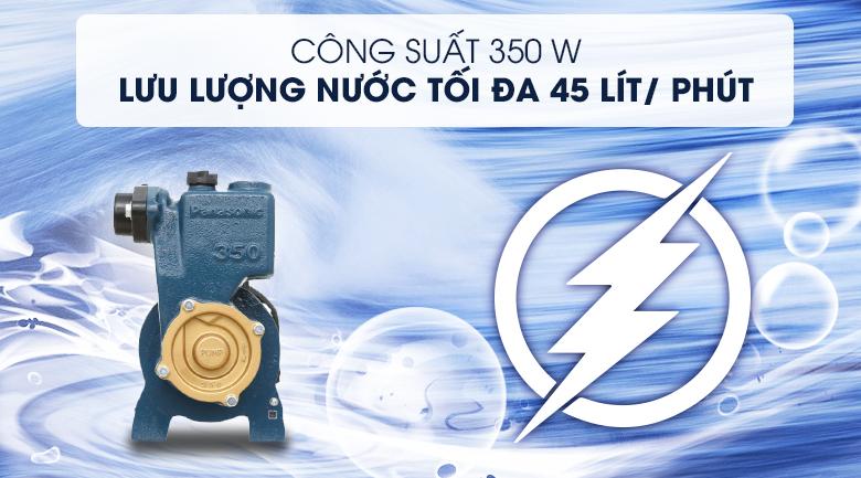 Máy bơm nước đẩy cao Panasonic GP-350JA-SV5 350W - Công suất 350W, cho khả năng bơm nước với lưu lượng tối đa 45 lít/ phút