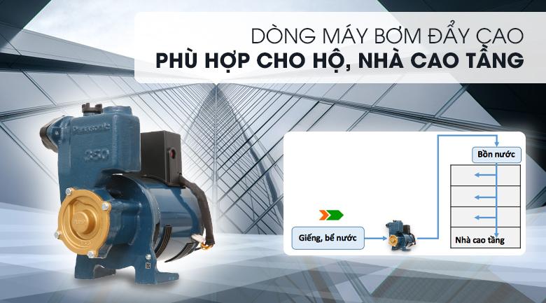 Máy bơm nước đẩy cao Panasonic GP-350JA-SV5 350W - Thuộc dòng máy bơm đẩy cao, phù hợp sử dụng cho các hộ, nhà cao tầngv