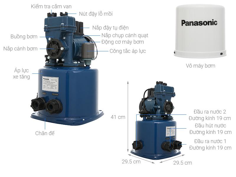 Thông số kỹ thuật Máy bơm nước tăng áp Panasonic A-130JTX 125W